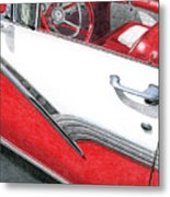 1956 Ford Fairlane Convertible 2 Metal Print