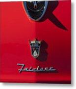 1956 Ford Fairlane Hood Ornament 2 Metal Print