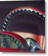 1956 Ford Thunderbird Speedometer - Steering Wheel -0714c Metal Print