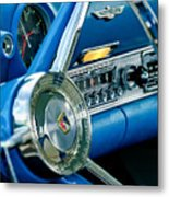 1956 Ford Thunderbird Steering Wheel And Emblem Metal Print