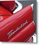 1956 Ford Thunderbird Taillight Emblem 2 Metal Print