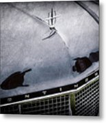 1956 Lincoln Continental Mark II Hess And Eisenhardt Convertible Grille Emblem - Hood Ornament -0126 Metal Print