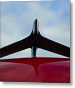 1956 Plymouth Hood Ornament Metal Print