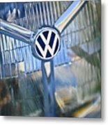 1956 Volkswagen Vw Bug Head Light Metal Print