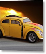 1956 Vw 'hot Rod' Bug II Metal Print