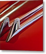1957 Cadillac Eldorado Biarritz Hood Ornament Metal Print