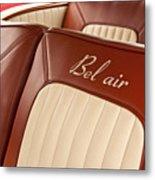 1957 Chevrolet Bel Air Seats Metal Print