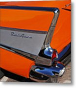 1957 Chevrolet Belair Coupe Tail Fin Metal Print