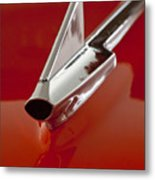 1957 Chevrolet Cameo Pickup Hood Ornament Metal Print