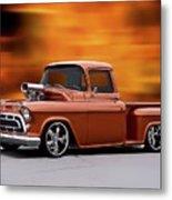 1957 Chevrolet Stepside Pickup Ll Metal Print