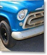 1957 Chevy - Chevrolet Pickup Grille And Logos Metal Print