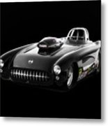 1957 Corvette Drag Car Metal Print
