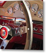 1957 Ford Fairlane Steering Wheel Metal Print