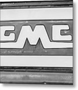 1957 Gmc Pickup Truck Tail Gate Emblem -0272bw2 Metal Print