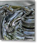 1957 Jaguar Roadster Hood Ornament Metal Print