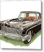1957 Lincoln Continental Mk II Metal Print