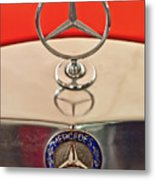 1957 Mercedes-benz 220 S Hood Ornament Metal Print