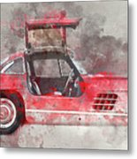 1957 Mercedes Gullwing Metal Print
