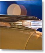 1957 Pontiac Bonneville Hood Ornament - Fender Spear Metal Print