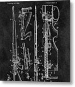 1957 Rifle Patent Illustration Metal Print