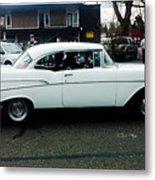 1957 White Chevy Metal Print