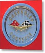 1958 Chevrolet Corvette Emblem Metal Print