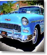 1955 Chevy Baby Blue Metal Print