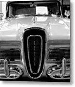 1958 Edsel Pacer Black And White Metal Print