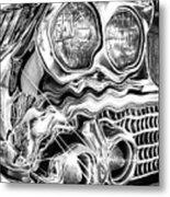 1958 Impala Beauty Within The Beast Metal Print