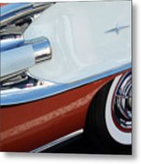 1958 Pontiac Bonneville Wheel Metal Print