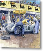 1958 Targa Florio Porsche 718 Rsk Behra Scarlatti 2 Place Metal Print