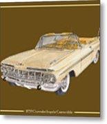 1959 Chevrolet Impala Convertible Metal Print