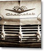 1959 Chevrolet Impala Grille Emblem -1014s Metal Print