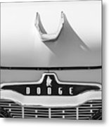 1959 Dodge Coronet Emblem - Hood Ornament -0903bw Metal Print