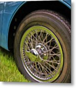 1959 Jaguar X K 150s Wire Wheel Metal Print