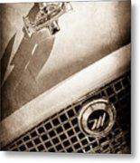 1959 Nash Metropolitan 1500 Convertible Hood Ornament - Grille Emblem -0180s Metal Print