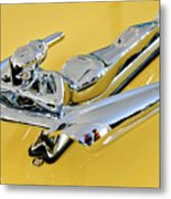1959 Nash Metropolitan Coupe Hood Ornament Metal Print