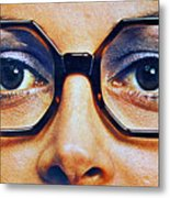 1960 70 Stylish Female Glasses Advertisement 4 Metal Print