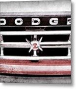 1960 Dodge Truck Grille Emblem -0275ac Metal Print