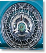 1960 Ford Thunderbird Spare Tire Metal Print