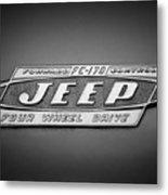 1960 Forward Control Jeep Fc-170 Emblem -1669bw Metal Print