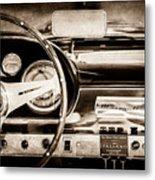 1960 Maserati 3500 Gt Spyder Steering Wheel Emblem -0407s Metal Print