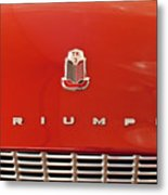 1960 Triumph Tr3 Emblem Metal Print