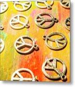 1960s Peace Movement Metal Print