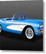 1961 C1 Chevrolet Corvette -  61chvetcv900 Metal Print