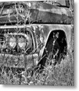 1961 Chevrolet Apache 10 Black And White 4 Metal Print
