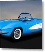 1961 Chevrolet C1 Corvette  -  61chvetcv350 Metal Print