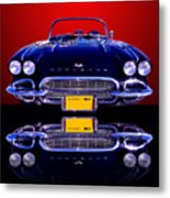 1961 Chevy Corvette Metal Print