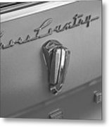1961 Rambler Emblem B And W Metal Print