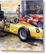 1961 Spa-francorchamps Ferrari Garage Ferrari 156 Sharknose  Metal Print